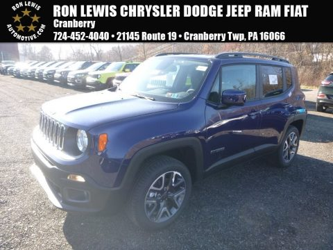 Jetset Blue Jeep Renegade Latitude 4x4.  Click to enlarge.