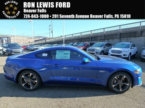 Lightning Blue Ford Mustang GT Fastback.  Click to enlarge.