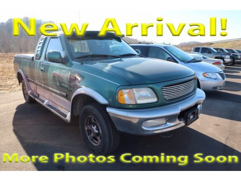 Pacific Green Metallic Ford F150 XLT Extended Cab 4x4.  Click to enlarge.