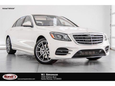 designo Diamond White Metallic Mercedes-Benz S 560 Sedan.  Click to enlarge.
