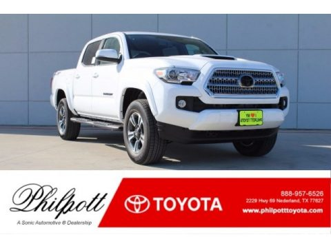 Super White Toyota Tacoma TRD Sport Double Cab.  Click to enlarge.