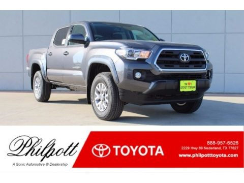 Magnetic Gray Metallic Toyota Tacoma SR5 Double Cab.  Click to enlarge.