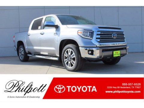 Silver Sky Metallic Toyota Tundra 1794 Edition CrewMax 4x4.  Click to enlarge.
