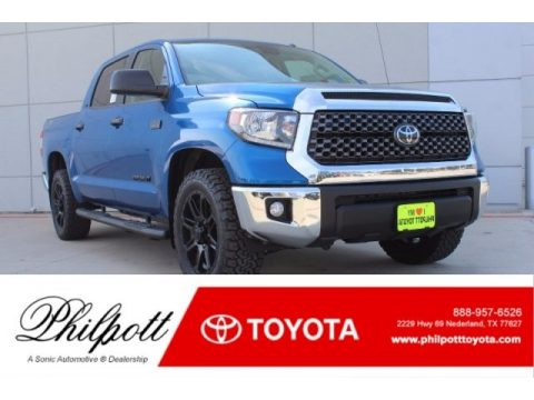 Blazing Blue Pearl Toyota Tundra TSS CrewMax.  Click to enlarge.