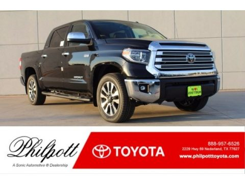 Midnight Black Metallic Toyota Tundra Limited CrewMax.  Click to enlarge.