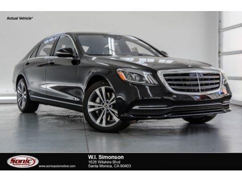 Black Mercedes-Benz S 450 Sedan.  Click to enlarge.