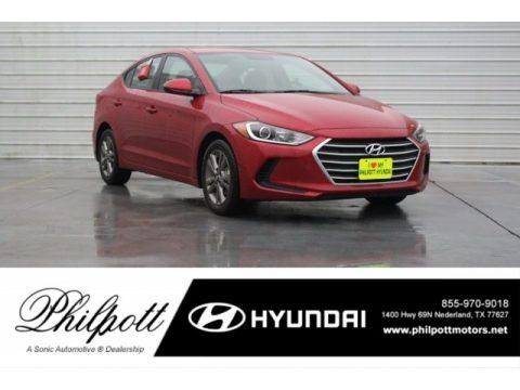 Scarlet Red Hyundai Elantra SEL.  Click to enlarge.