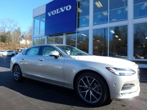 Luminous Sand Metallic Volvo S90 T5 AWD.  Click to enlarge.