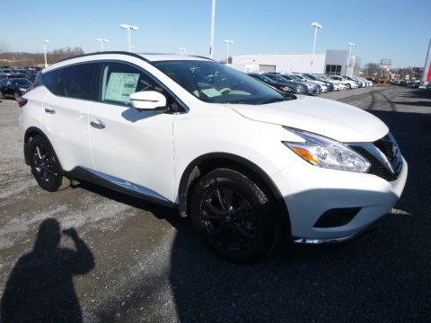 Pearl White Nissan Murano SV AWD.  Click to enlarge.