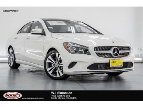 Cirrus White Mercedes-Benz CLA 250 Coupe.  Click to enlarge.
