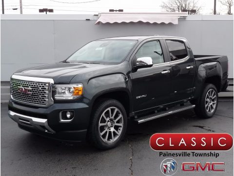 Dark Slate Metallic GMC Canyon Denali Crew Cab 4x4.  Click to enlarge.