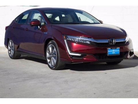 Crimson Pearl Honda Clarity Touring Plug In Hybrid.  Click to enlarge.