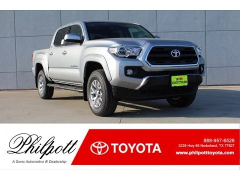 Silver Sky Metallic Toyota Tacoma SR5 Double Cab.  Click to enlarge.