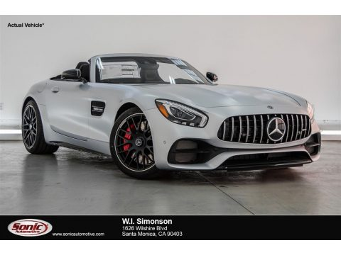designo Iridium Silver Magno (Matte) Mercedes-Benz AMG GT C Roadster.  Click to enlarge.