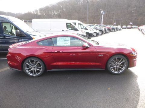 Ruby Red Ford Mustang GT Premium Fastback.  Click to enlarge.