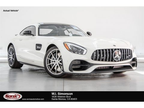 designo Diamond White Metallic Mercedes-Benz AMG GT Coupe.  Click to enlarge.