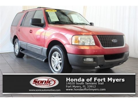 Laser Red Tinted Metallic Ford Expedition XLT.  Click to enlarge.
