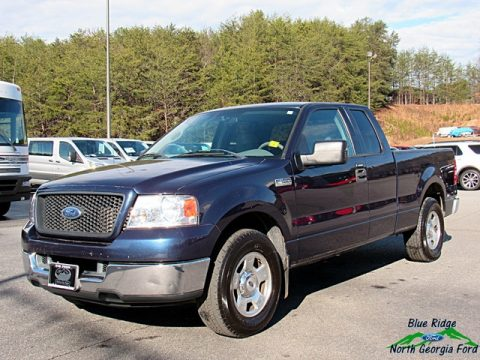 Medium Wedgewood Blue Metallic Ford F150 XLT SuperCab.  Click to enlarge.