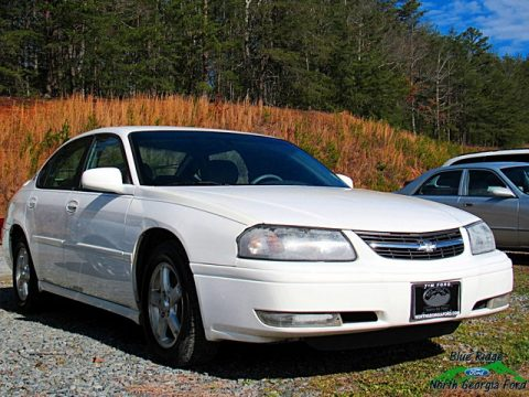White Chevrolet Impala LS.  Click to enlarge.