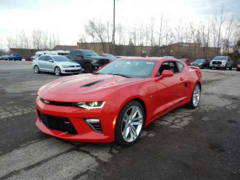 Red Hot Chevrolet Camaro SS Coupe.  Click to enlarge.