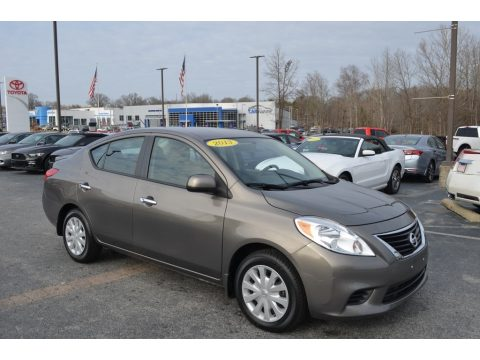 Magnetic Gray Nissan Versa 1.6 S Sedan.  Click to enlarge.