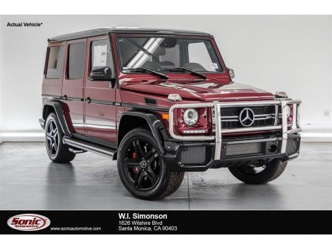 Storm Red Metallic Mercedes-Benz G 63 AMG.  Click to enlarge.