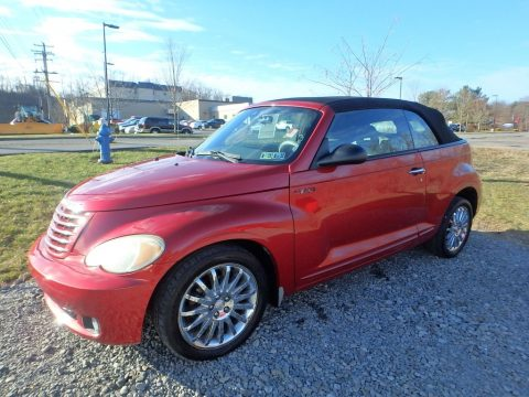 Inferno Red Crystal Pearl Chrysler PT Cruiser GT Convertible.  Click to enlarge.