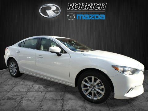Snowflake White Pearl Mica Mazda Mazda6 Sport.  Click to enlarge.