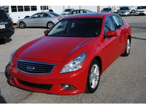 Vibrant Red Infiniti G 37 Journey Sedan.  Click to enlarge.