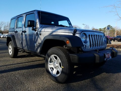 Billet Silver Metallic Jeep Wrangler Unlimited Sport 4x4.  Click to enlarge.
