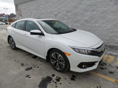 White Orchid Pearl Honda Civic EX-T Sedan.  Click to enlarge.