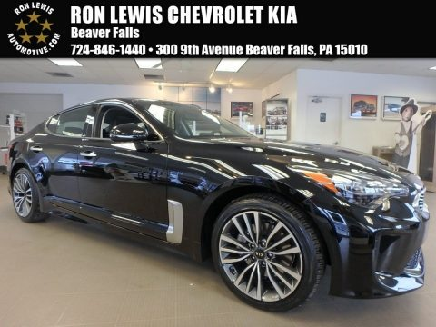 Aurora Black Pearl Kia Stinger Premium AWD.  Click to enlarge.