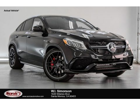Black Mercedes-Benz GLE 63 S AMG 4Matic Coupe.  Click to enlarge.