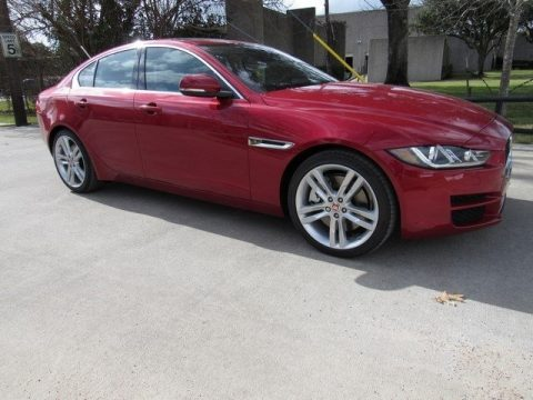 Italian Racing Red Jaguar XE 35t Prestige.  Click to enlarge.