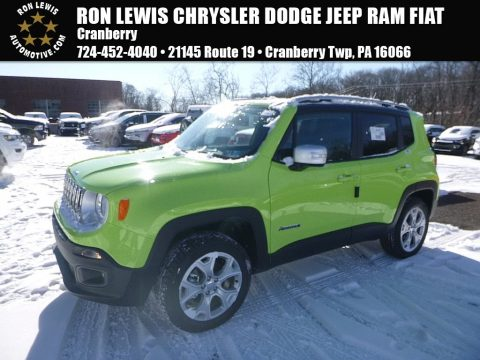 Hypergreen Jeep Renegade Limited 4x4.  Click to enlarge.