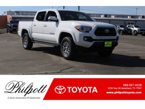 Super White Toyota Tacoma SR5 Double Cab.  Click to enlarge.