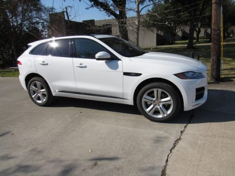 Fuji White Jaguar F-PACE 30t AWD R-Sport.  Click to enlarge.
