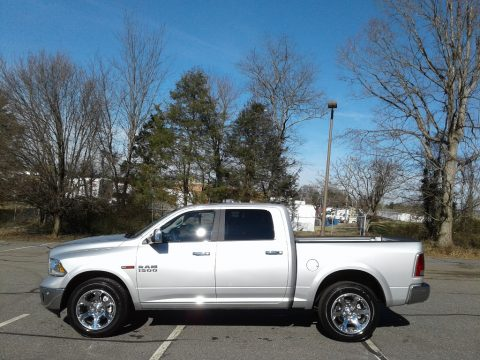 Bright Silver Metallic Ram 1500 Laramie Crew Cab 4x4.  Click to enlarge.