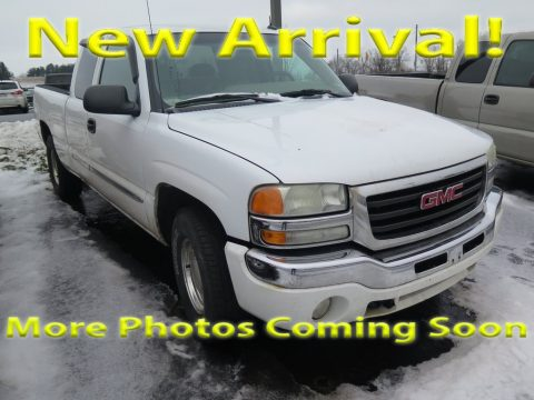 Summit White GMC Sierra 1500 SLE Extended Cab 4x4.  Click to enlarge.