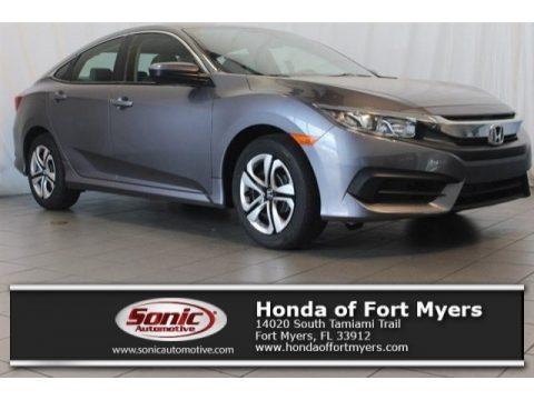 Modern Steel Metallic Honda Civic LX Sedan.  Click to enlarge.