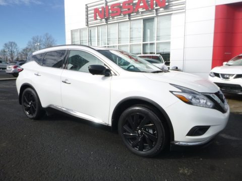 Pearl White Nissan Murano Platinum AWD.  Click to enlarge.