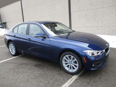 Mediterranean Blue Metallic BMW 3 Series 320i xDrive Sedan.  Click to enlarge.