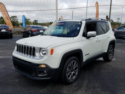 Alpine White Jeep Renegade Limited.  Click to enlarge.