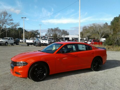 Go Mango Dodge Charger SXT.  Click to enlarge.