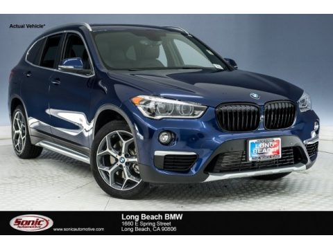 Mediterranean Blue Metallic BMW X1 sDrive28i.  Click to enlarge.