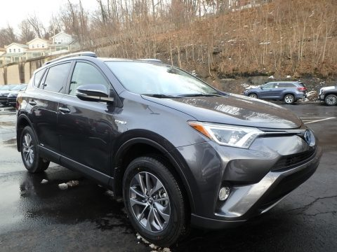Magnetic Gray Metallic Toyota RAV4 XLE AWD Hybrid.  Click to enlarge.