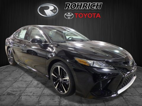 Midnight Black Metallic Toyota Camry XSE V6.  Click to enlarge.