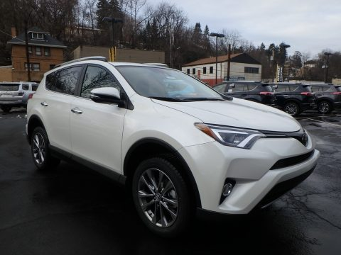 Blizzard White Pearl Toyota RAV4 Limited AWD.  Click to enlarge.