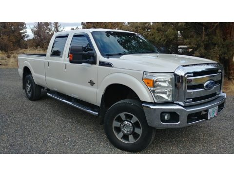 Oxford White Ford F350 Super Duty Lariat Crew Cab 4x4.  Click to enlarge.