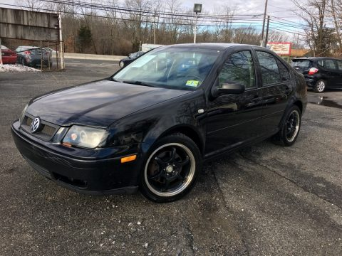 Black Volkswagen Jetta GLX VR6 Sedan.  Click to enlarge.